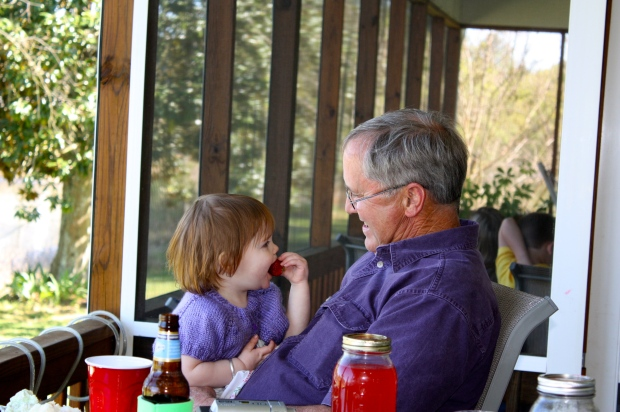 Claire and Uncle David, who looks suspiciously like Pappy